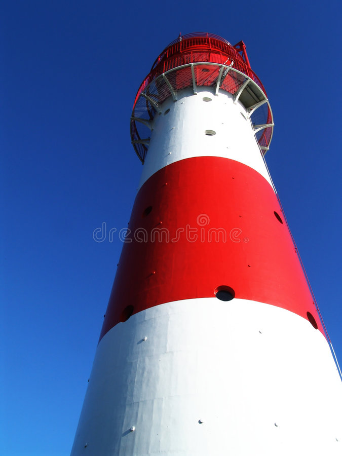 red + white lighthouse 1 royalty free stock photography