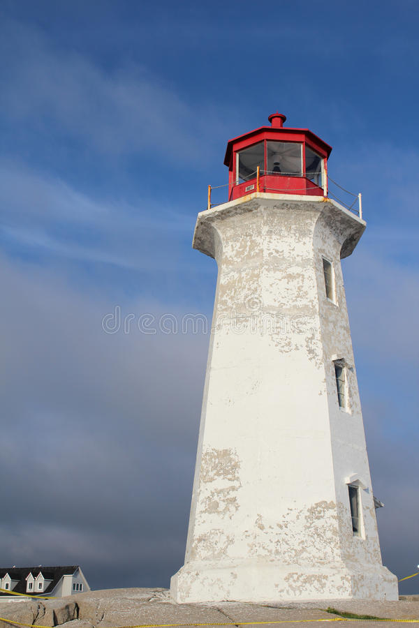 Red and white lighthouse royalty free stock photos