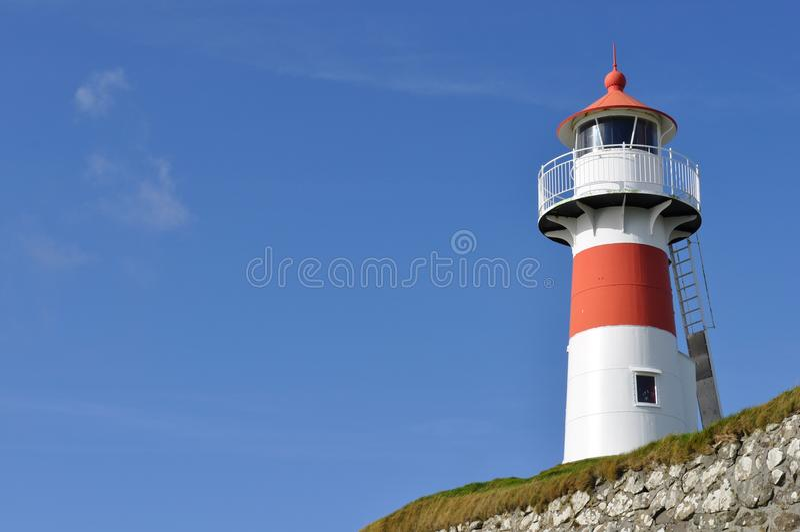 Offset Lighthouse royalty free stock photo