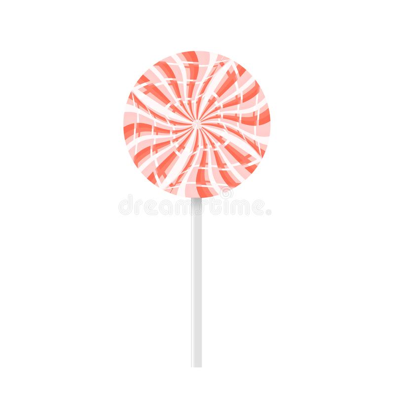 red and white lollipop stock image