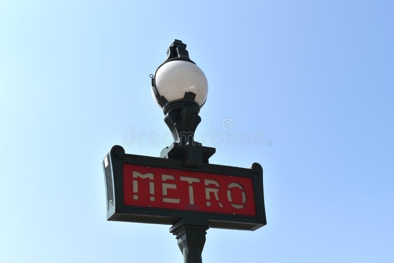 Metro Sign, Paris, France royalty free stock photography