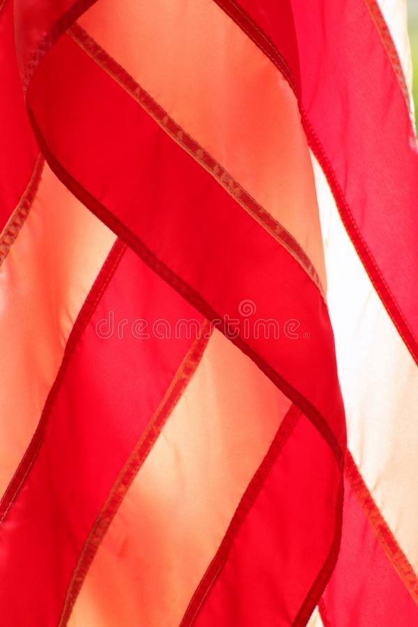 American Flag Red And White Stripes Closeup Stock Photo