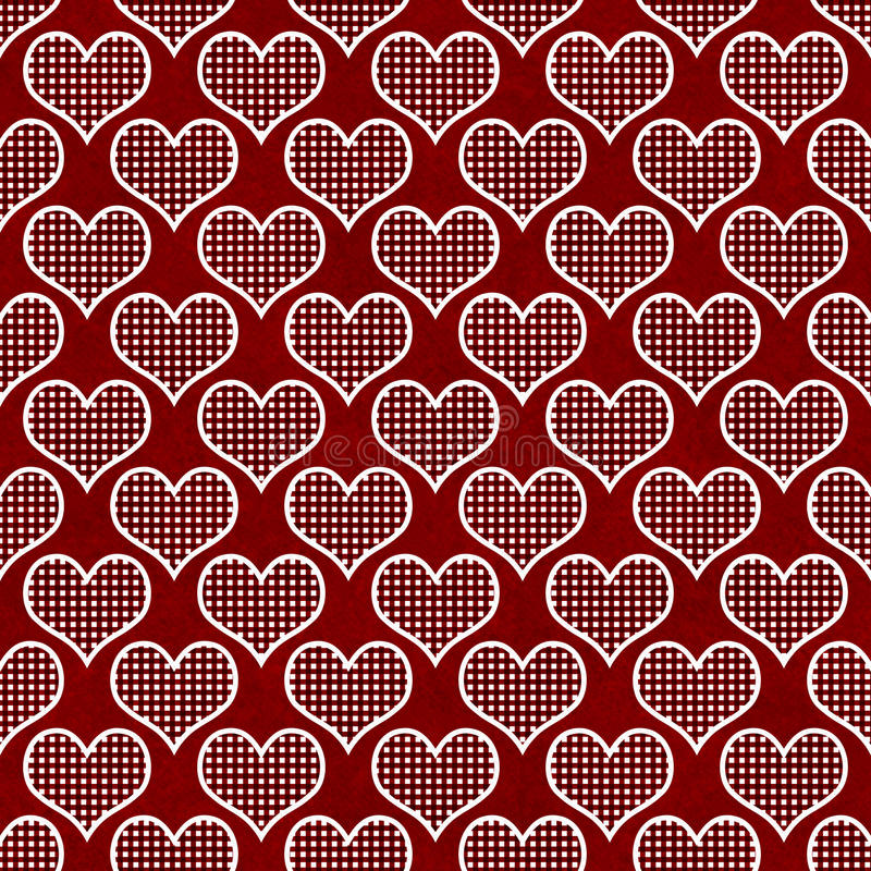 Red and White Polka Dot Hearts Pattern Repeat Background. That is seamless and repeats stock photos