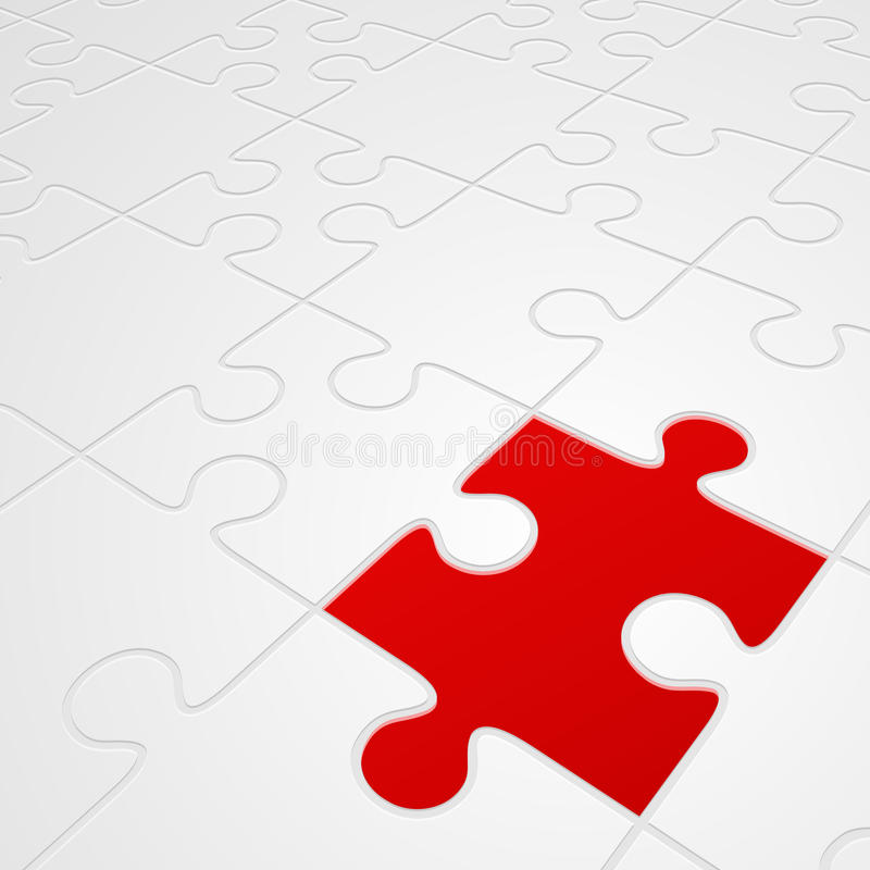 Download Red and white puzzle stock illustration. Image of design - 20637325