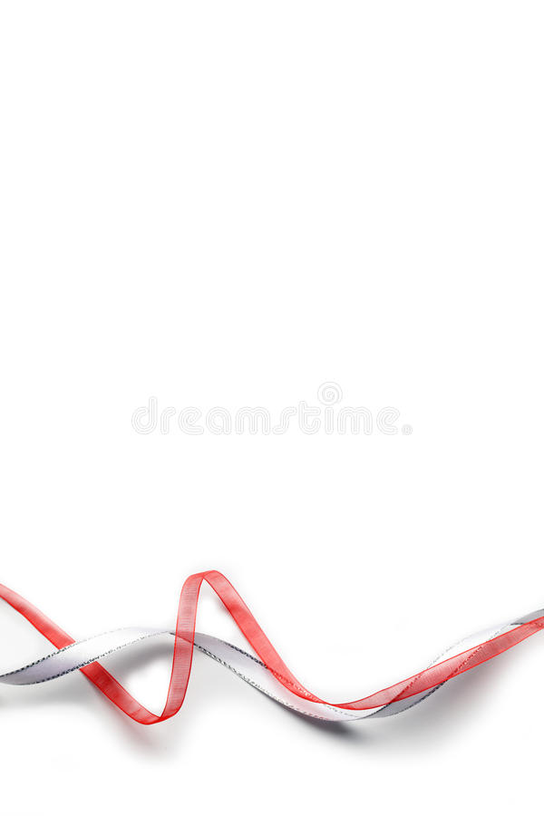 Download Red and white ribbons stock image. Image of ornament - 27527429