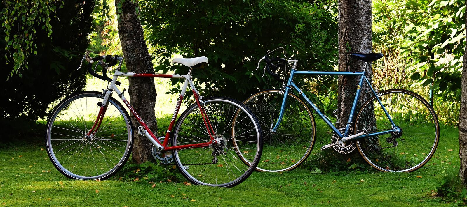 Red and White Road Bike royalty free stock photography