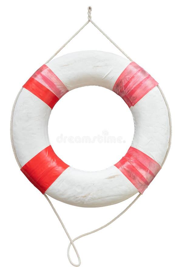 Red and white safety torus or lifebuoy isolated on white background. Red and white safety torus or lifebuoy isolated on a white background stock photos