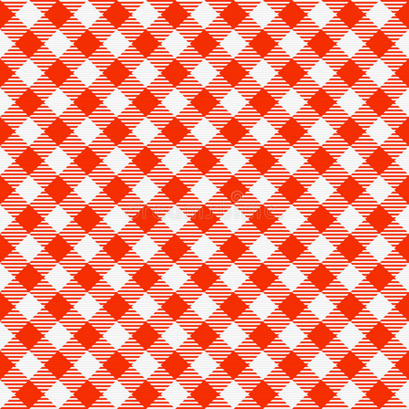 Download Red And White Seamless Checkered Tablecloth Stock Vector    Illustration Of Surface, Cotton: