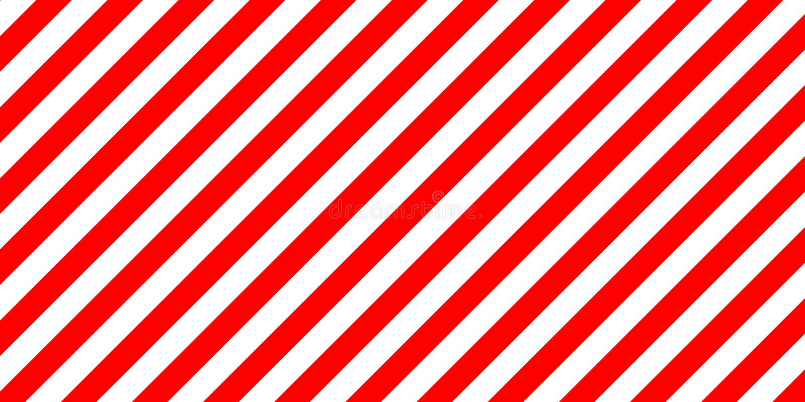 Red and white stripes diagonally sign, the size load. Warning striped rectangular background, red and white stripes diagonally sign showing the size of the load royalty free illustration