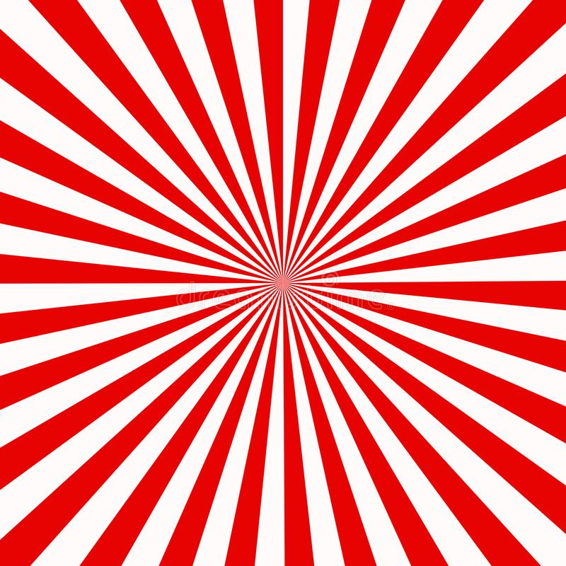 Red and white sunburst abstract texture. shiny starburst background. abstract sunburst effect background. red and white ray royalty free illustration