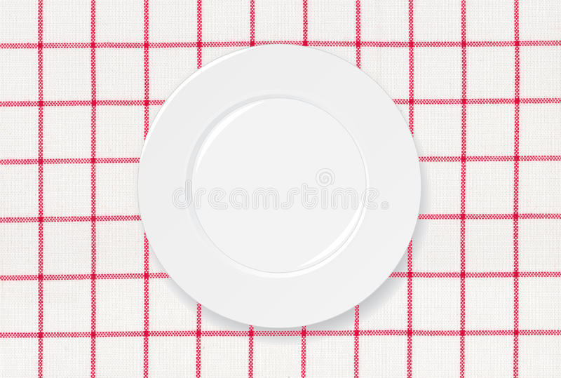 Download Red and white tablecloth stock illustration. Image of domestic - 26696246