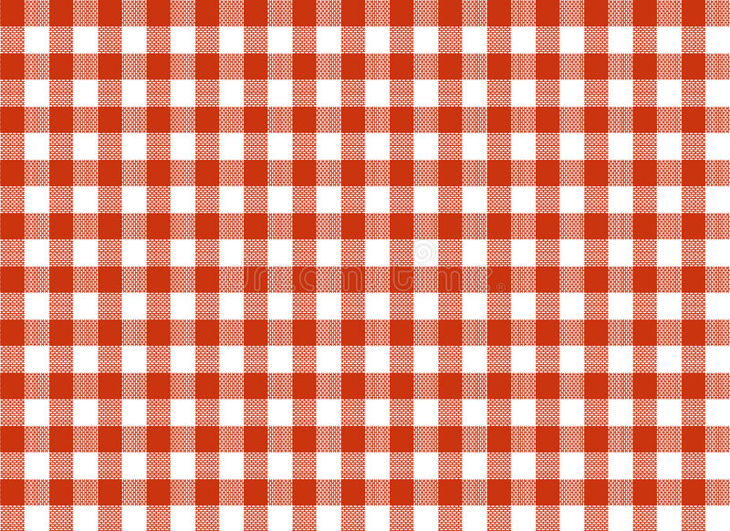 Red And White Tablecloth Royalty Free Stock Images