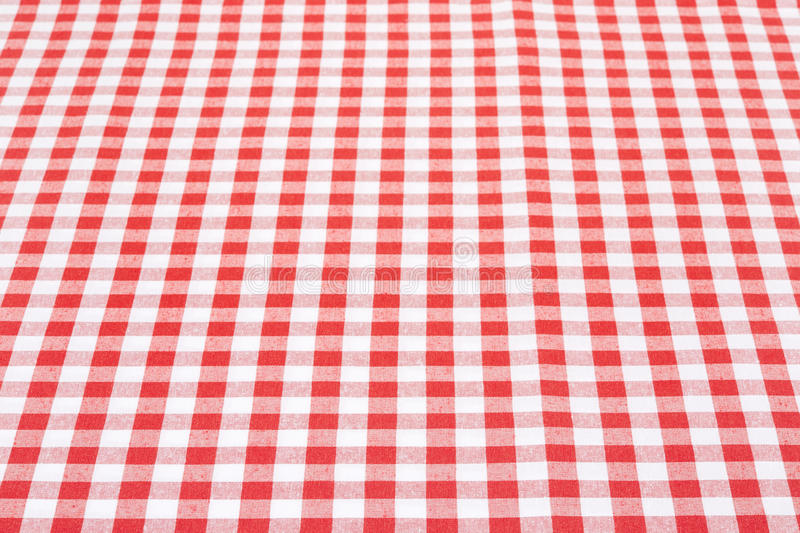 Red And White Tablecloth Perspective