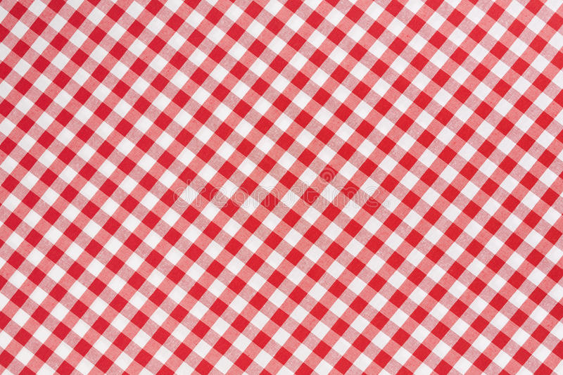 Beautiful Red And White Tablecloth Texture Background