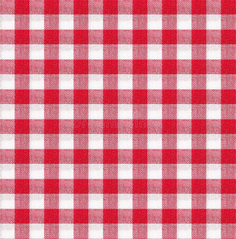 Red And White Tablecloth Texture Wallpaper Stock Image