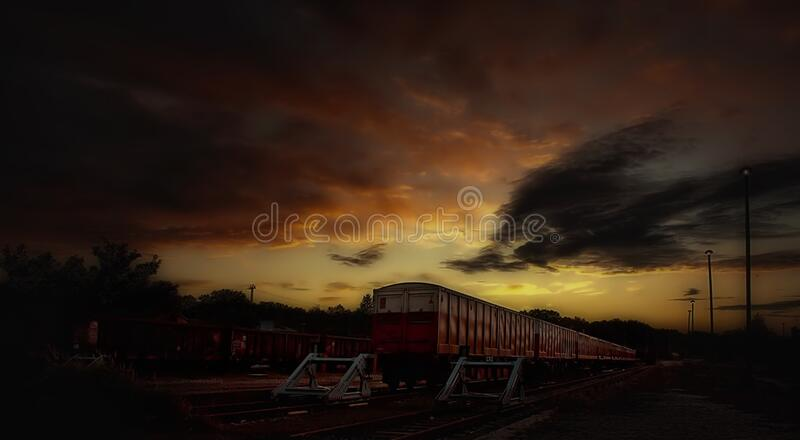 Red And White Train Taken During Sunset Free Public Domain Cc0 Image