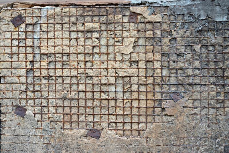 Red White Wall Background. Old Grungy Brick Wall Horizontal Texture. Brickwall Backdrop. Stonewall Wallpaper. Vintage Wall With Pe royalty free stock photography