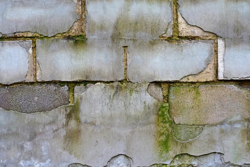Red White Wall Background. Old Grungy Brick Wall Horizontal Texture. Brickwall Backdrop. Stonewall Wallpaper. Vintage Wall With Pe royalty free stock images