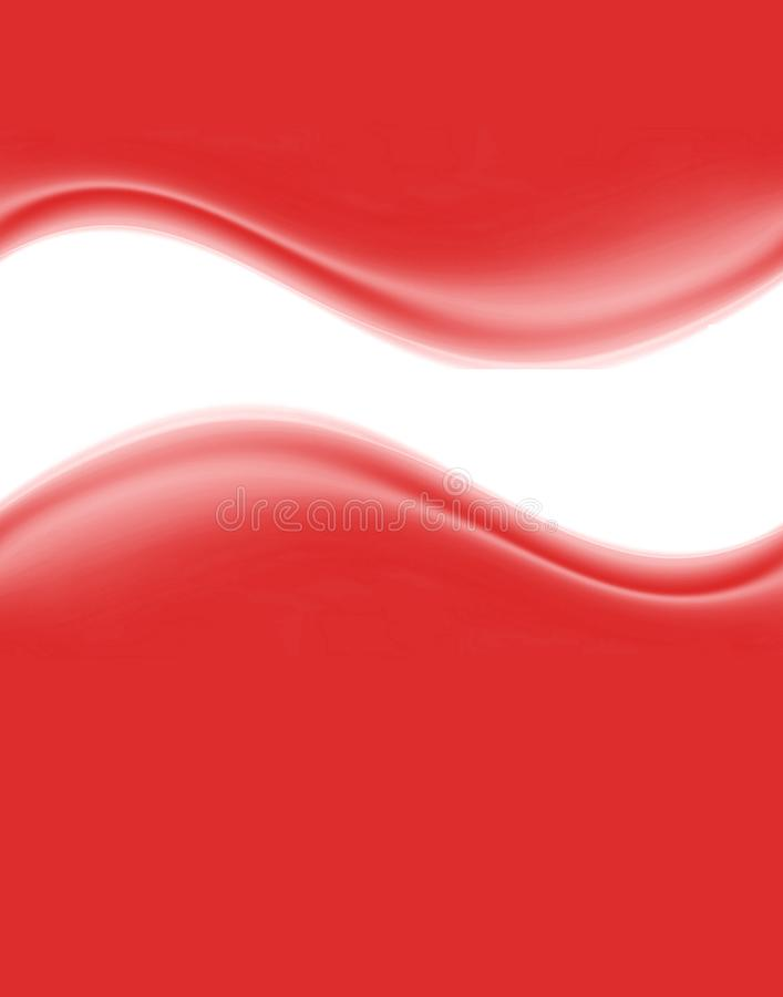 Red and white waves royalty free stock photography