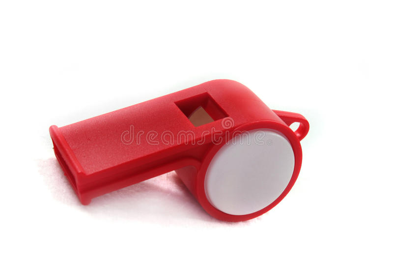 Red and white whistle royalty free stock images