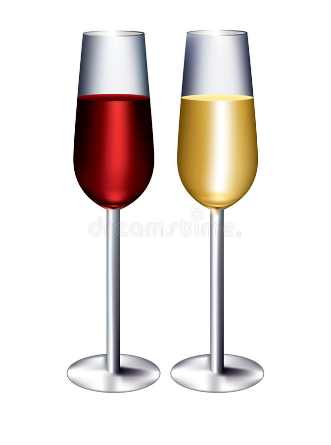 Download Red and white wine stock vector. Image of alcohol, celebration - 22840891