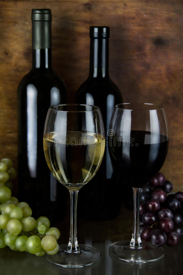 Download Red and white wine stock photo. Image of vineyard, bodega - 26405438