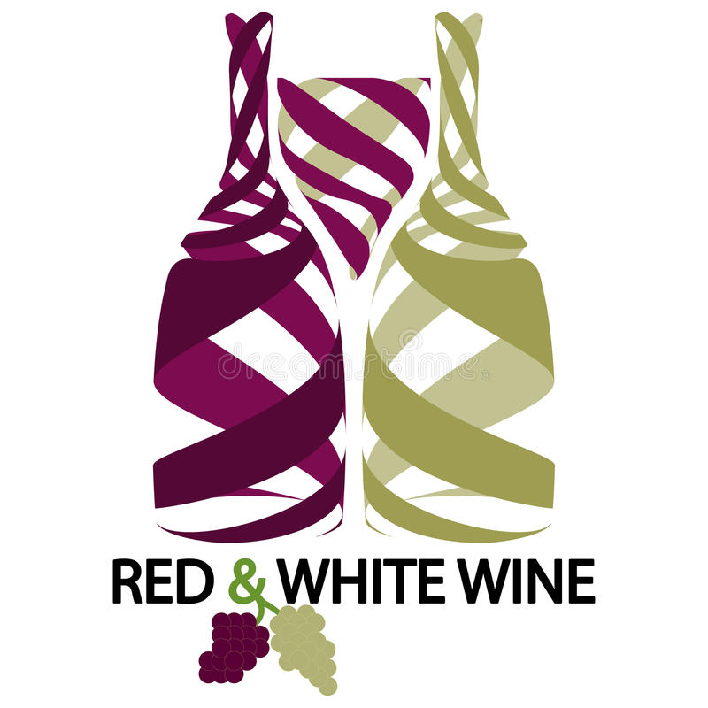 Download Red and white wine stock vector. Image of bottles, green - 28495010