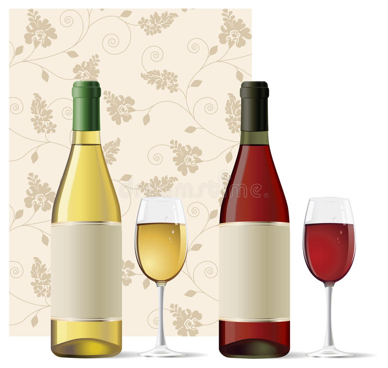 Download Red and White Wine stock vector. Image of green, isolated - 9663165