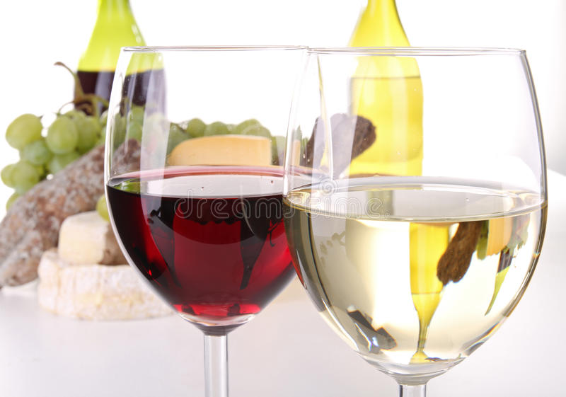Red and white wineglass royalty free stock image