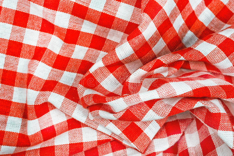 Download Red And White Wrinkled Checkered Tablecloth Stock Image   Image Of  Picnic, Tablecloth: