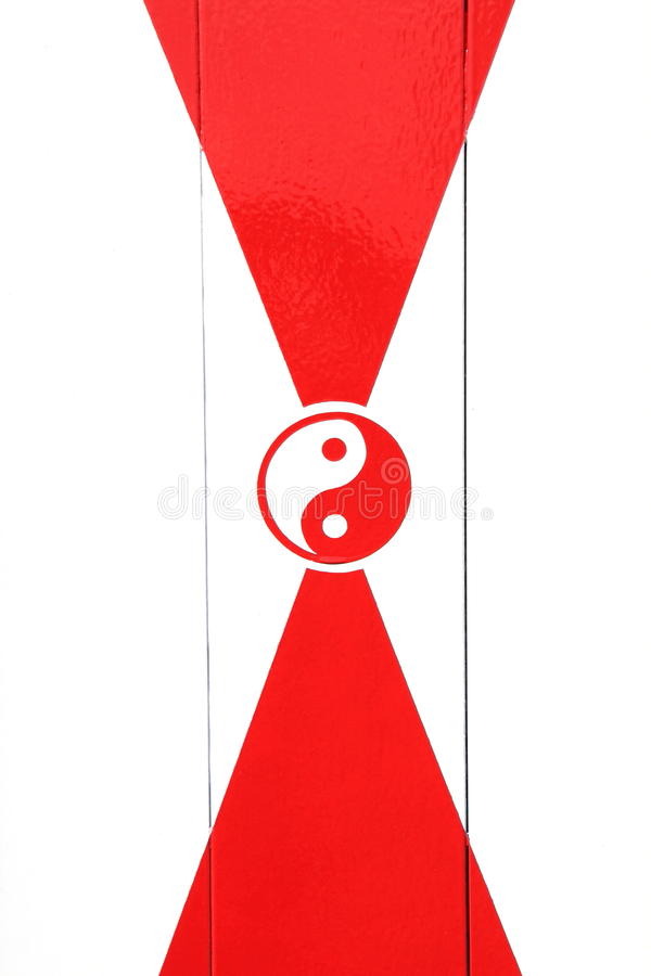 Download Red And White Yin Yang Sign Stock Photo - Image: 24916612