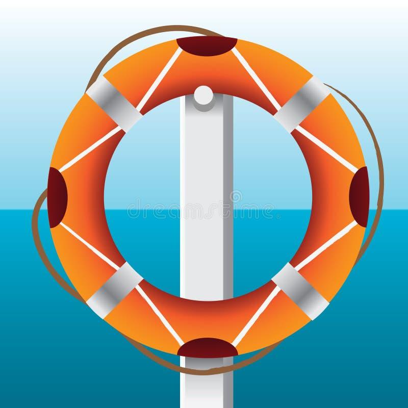 Red wiel vector illustratie