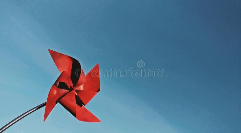 Red Windmill Postcard royalty free stock photo