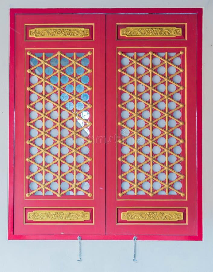 Red window stock image