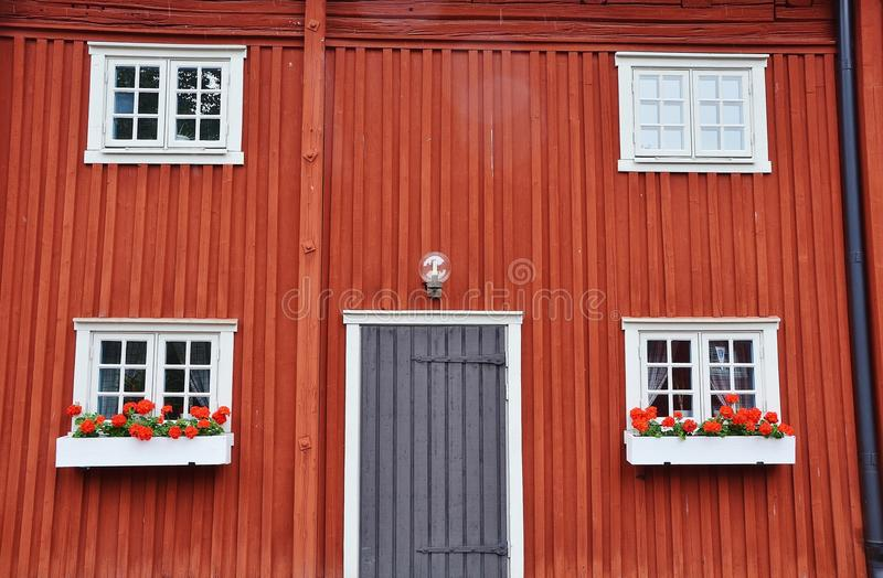 Red, Window, House, Wall royalty free stock photo