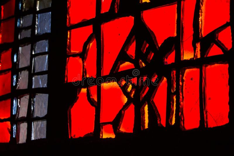 Red, Window, Stained Glass, Darkness royalty free stock photos