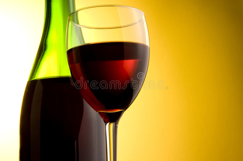 Download Red wine stock image. Image of glass, bottle, beverages - 4221797