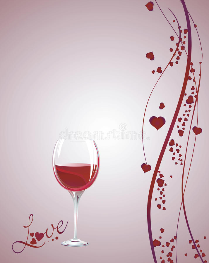 Red wine on background vector illustration
