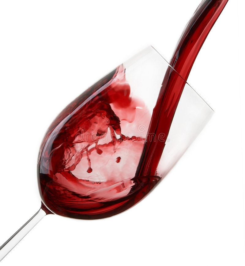 Download Red Wine Being Poured Into Glass Stock Photo - Image: 8382912