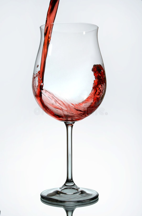 Download Red Wine Being Poured Into A Wine Glass Stock Image - Image: 433127