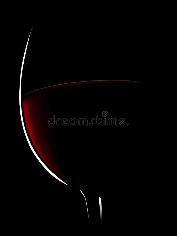 Red wine on a black background ,saved clipping path. stock photography