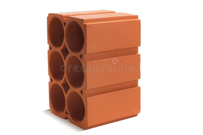 Red wine block brick block for wine on a white background. Ceramic block of a new development in the construction sector royalty free stock image