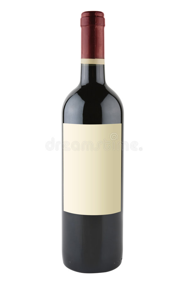 Red Wine Bottle Stock Image