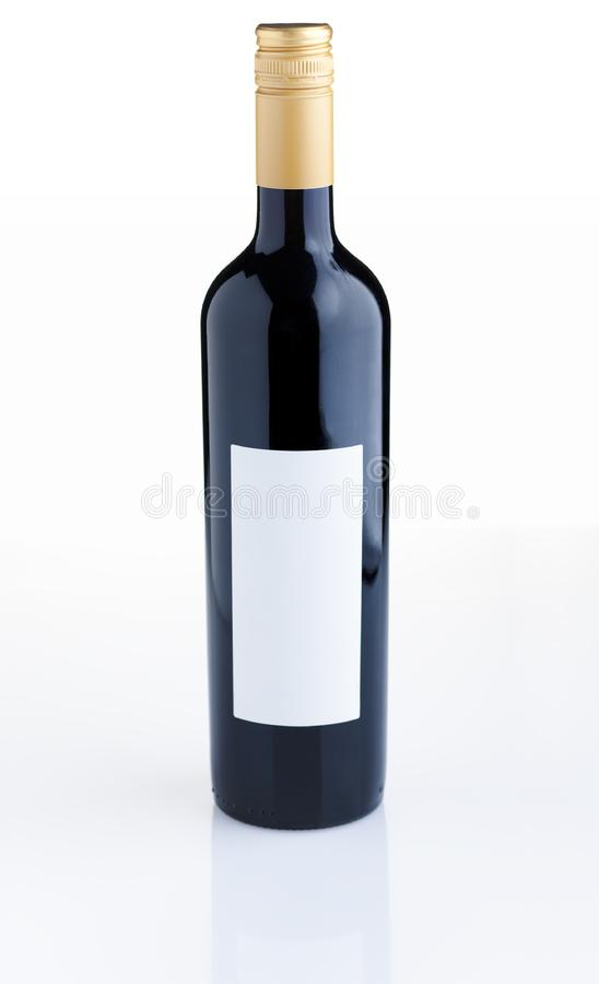 Red wine bottle stock photography