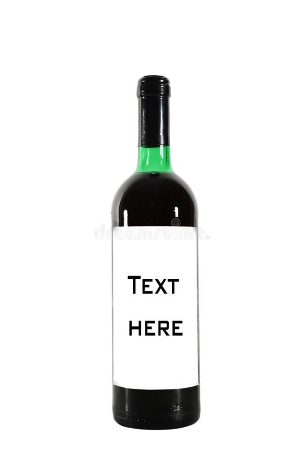 Red wine bottle stock photos