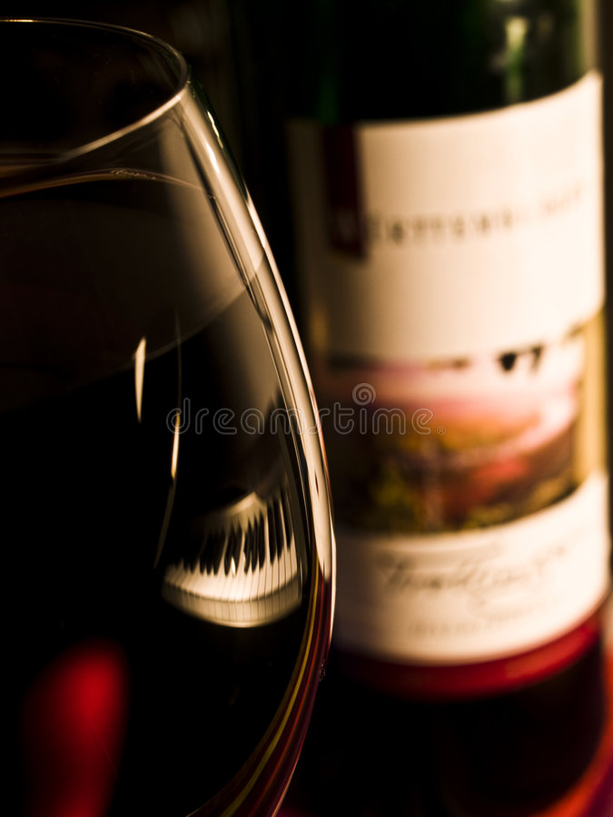 Free Red Wine Bottle And Glass Stock Photo - 7443330