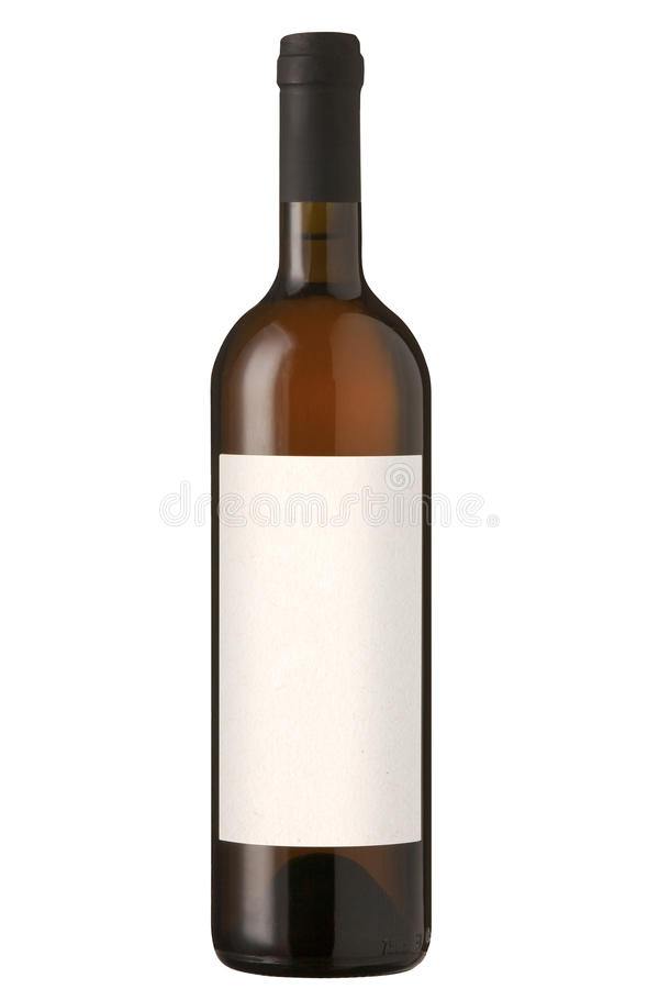 Red wine bottle with blank label. royalty free stock photos