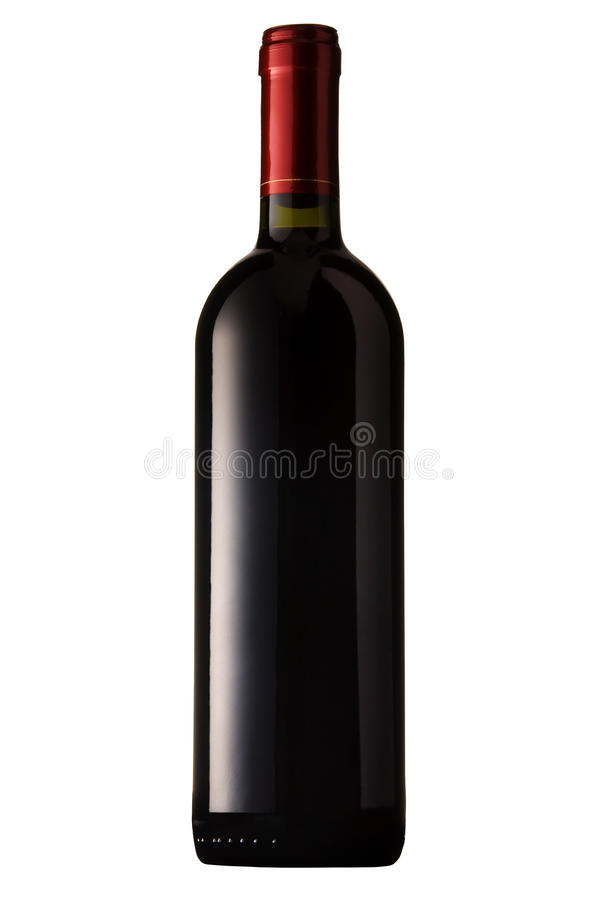 Red Wine Bottle Isolated Royalty Free Stock Photography