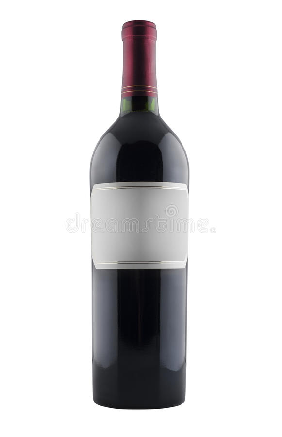 Red Wine Bottle, Isolated Royalty Free Stock Photography