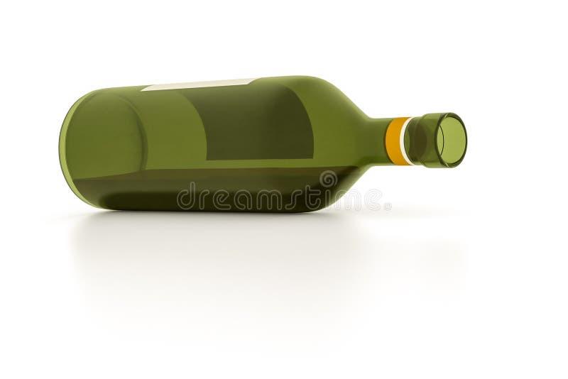 Red wine bottle vector illustration